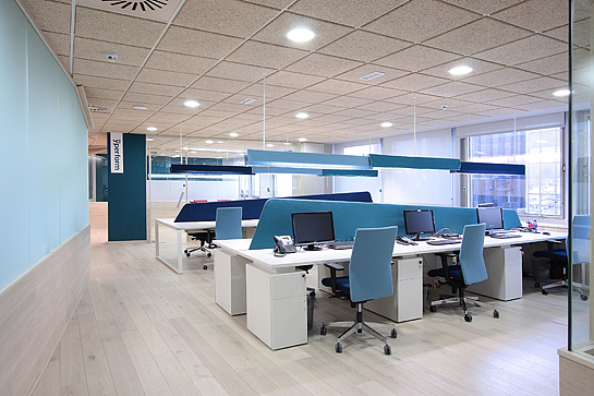 Inspiration offices accented in blue office snapshots for Small corporate office design