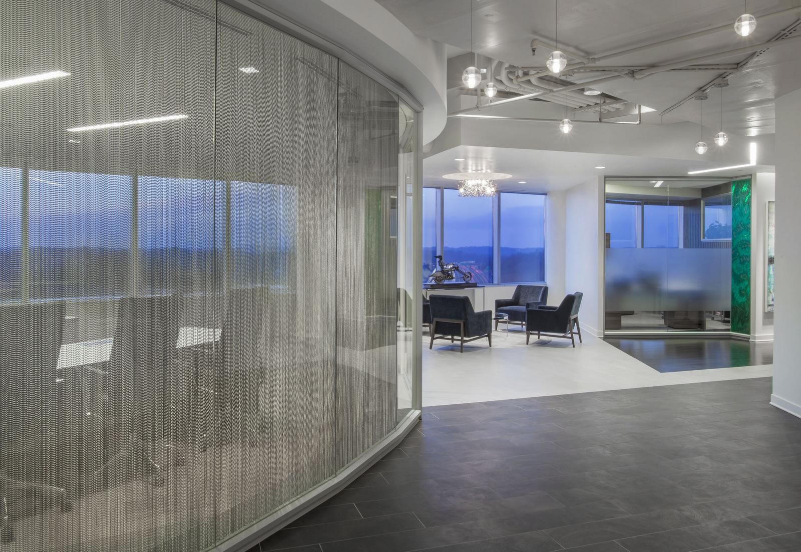 Accountable health rockville offices office snapshots for Curved wall