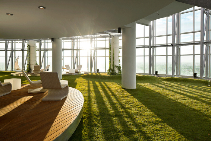 Inspiration: Cool Examples of Offices that Use Fake Grass - 1