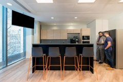 Ceiling-Mounted Display in Freightliner Offices - London