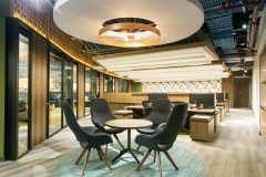 Suspended Cylinder / Round in Casa Cuervo Offices - Mexico City