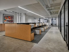 Suspended Cylinder / Round in Take-Two Interactive Software Offices - New York City