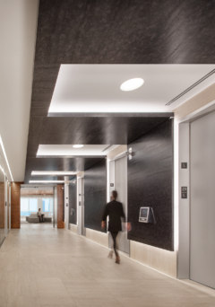 Stone Tile in 111 South Wacker Amenity Space - Chicago