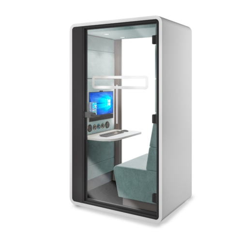 HushHybrid acoustic workpod by Mikomax Smart Office