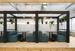 Booth Seating in Attraction Media Offices - Montréal