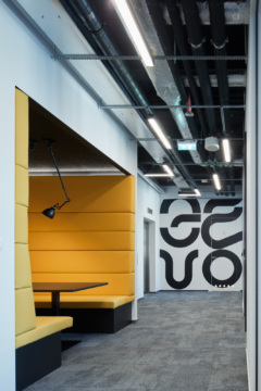 Booth Seating in HubHub Offices - Prague