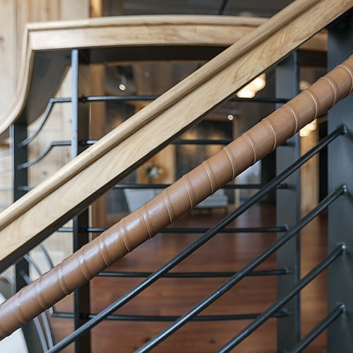 Leather Wrapped Handrails by Spinneybeck