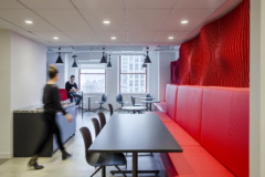 Banquette Seating in LinkedIn Offices - New York City