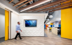 Wall-Mounted Display in Corgan Offices - Culver City