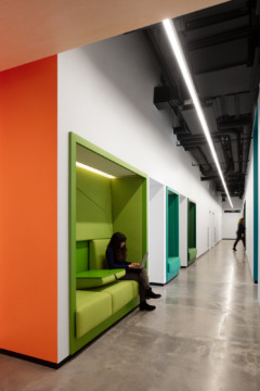 Bench Seating in OCAD U CO Incubator Offices - Toronto