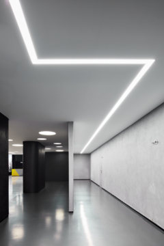 Recessed Cylinder / Round in SAP Digital Leadership Center Offices - Moscow