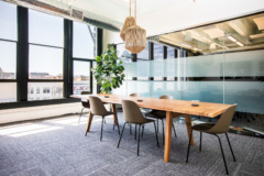 Glass Walls on Meeting Room in Kiva Offices - San Francisco