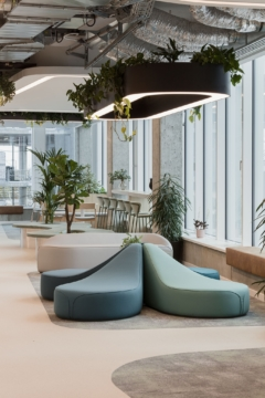 Suspended Cylinder / Round in IncepTech Offices - Budapest